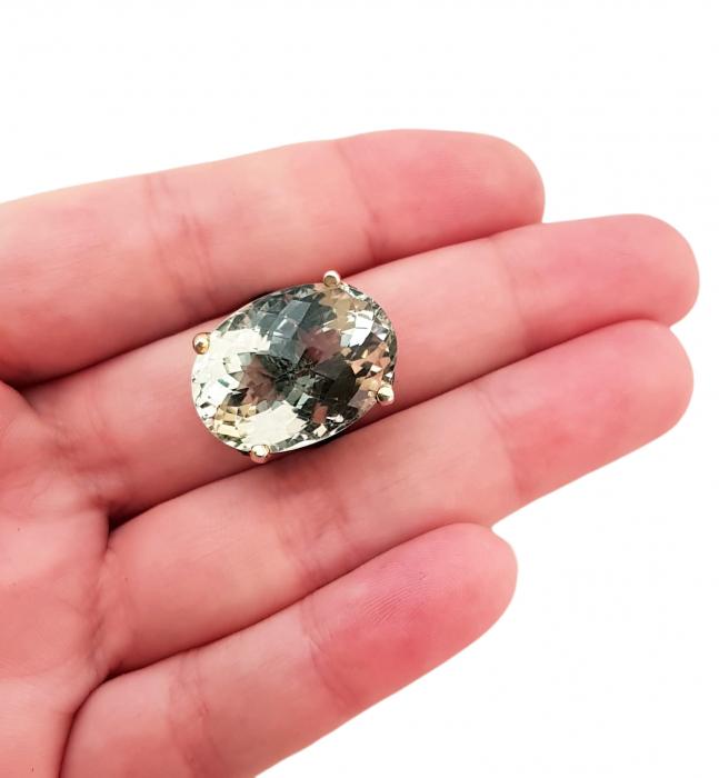 Inel argint ametist verde [2]