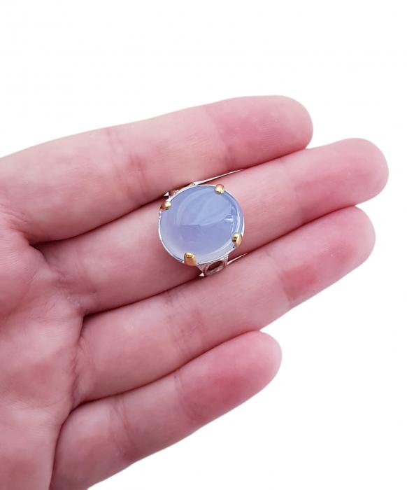 Inel argint calcedonie [2]