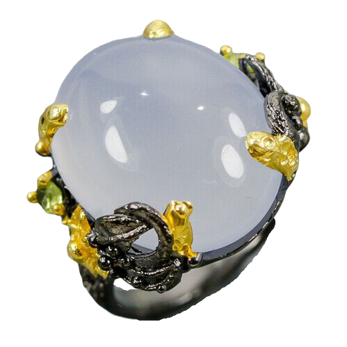 Inel argint calcedonie [0]