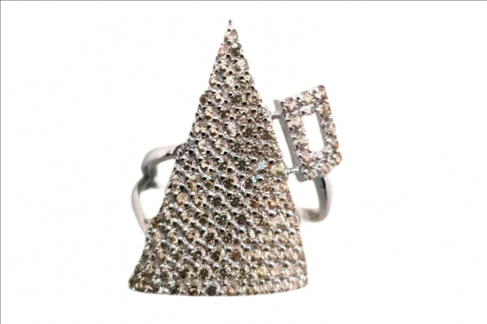 Inel argint cu safir galben [0]