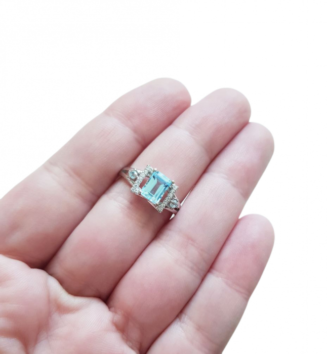Inel argint cu topaz [2]