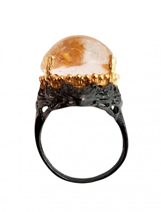 Inel argint cuart vulcanic [1]