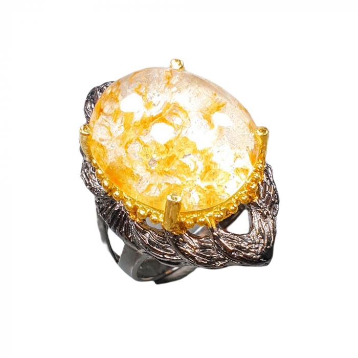 Inel argint cuart vulcanic [0]