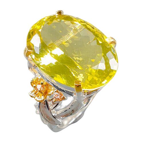 Inel argint cuart lemon [0]