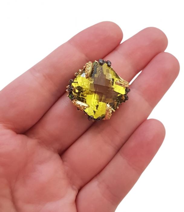 Inel argint cuart lemon [3]