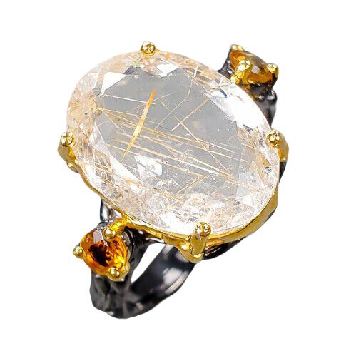 Inel argint cuart rutilat [0]