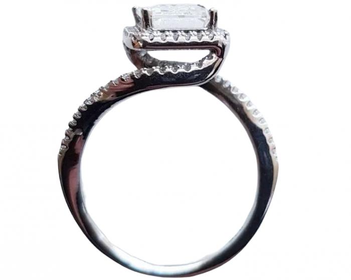 Inel argint cubic zirconia [4]