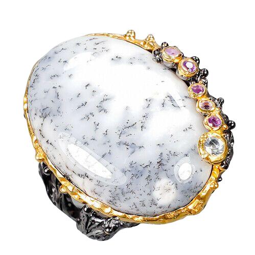 Inel argint opal dendritic [0]