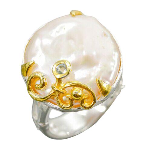 Inel argint perla baroca [0]