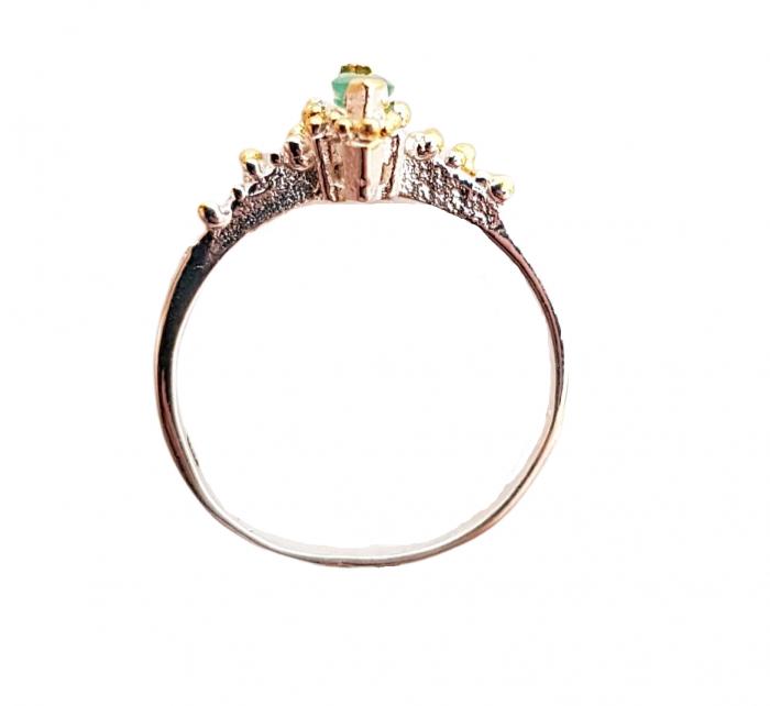 Inel argint smarald C875 [1]