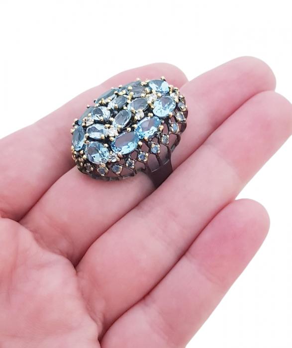 Inel argint topaz [2]