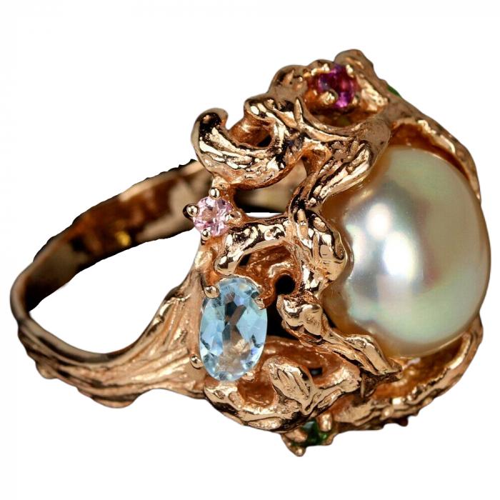 Inel argint perla naturala [2]