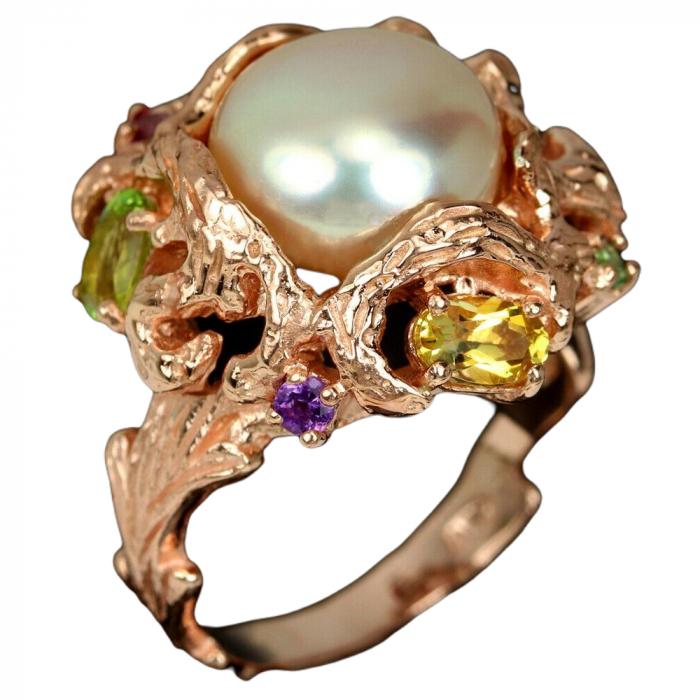 Inel argint perla naturala [0]