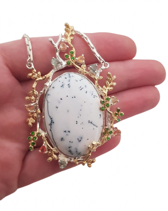 Pandant argint opal dendritic [2]