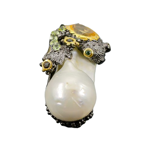 Pandant argint perla baroca [0]