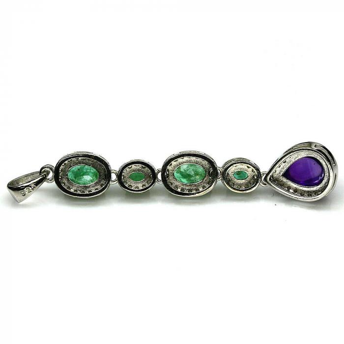Pandantiv argint smarald [2]