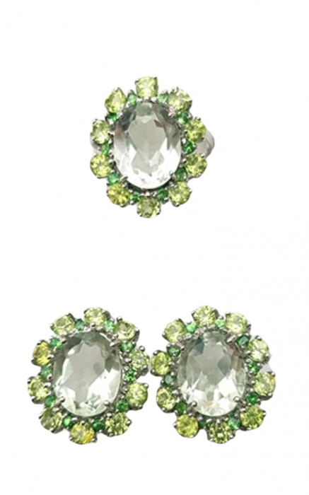 Set Argint ametist verde [0]
