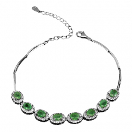 Bratara argint smarald [0]