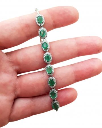 Bratara argint smarald [2]