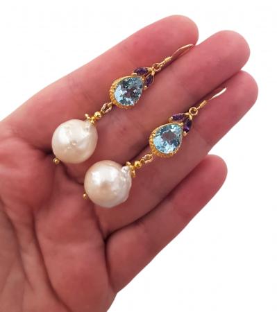 Cercei argint perle naturale [3]