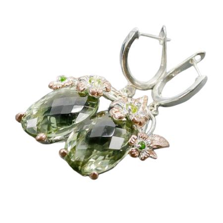 Cercei argint ametist verde [1]