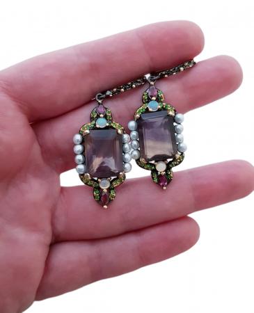 Cercei argint fluorit perle [2]