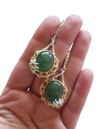 Cercei argint jad [2]