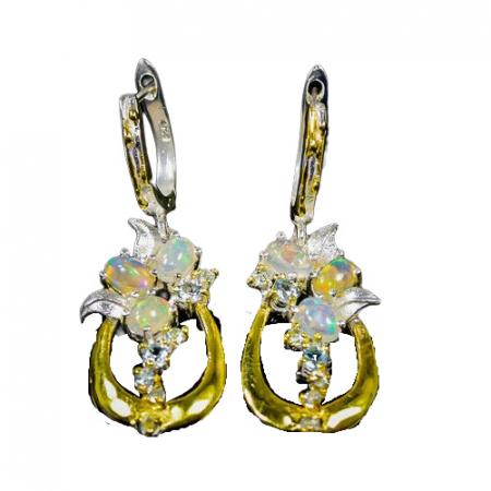 Cercei argint opal topaz [0]