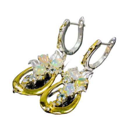 Cercei argint opal topaz [1]