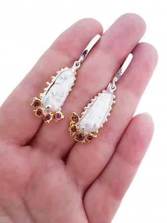 Cercei argint perle biwa [2]
