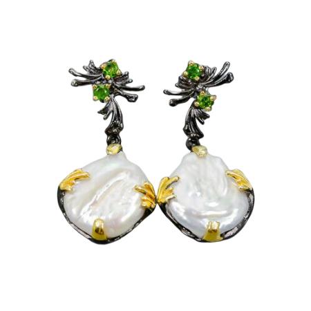 Cercei argint perle baroce [0]