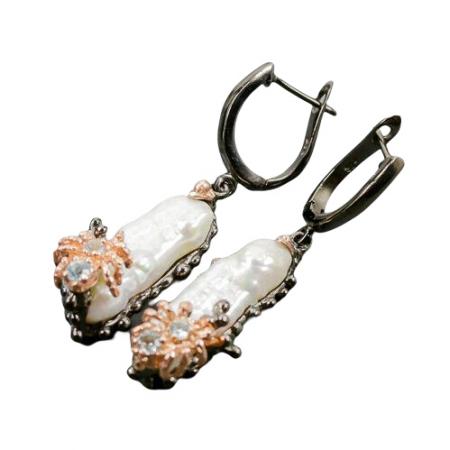Cercei argint perla biwa [1]