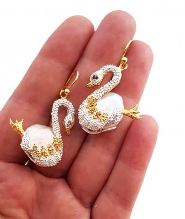Cercei argint perle [2]