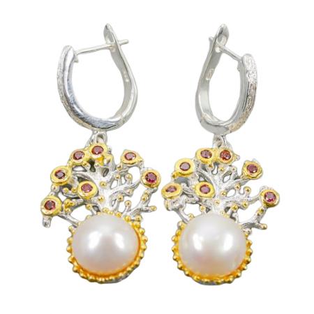 Cercei argint perle naturale [0]