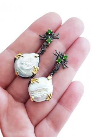 Cercei argint perle baroce [2]