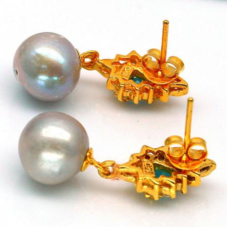 Cercei perle naturale si swiss topaz [1]