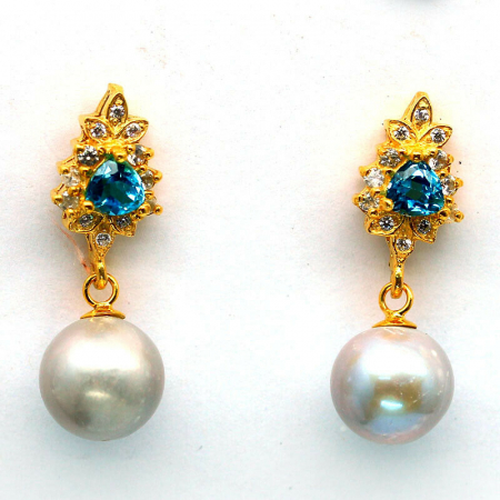 Cercei perle naturale si swiss topaz [0]
