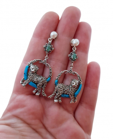 Cercei argint turqoise [2]