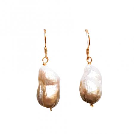 Cercei cu perle naturale flameball [0]