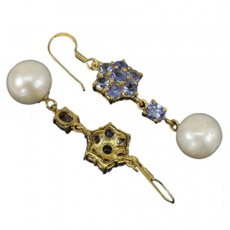 Cercei tanzanit perla [1]
