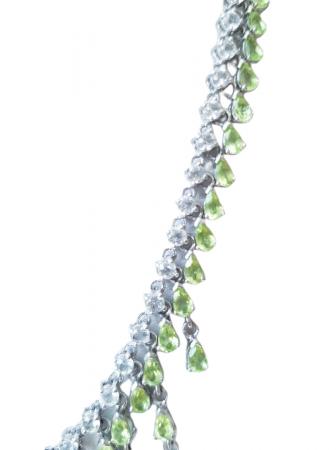 Colier Argint cu pietre naturale peridot [1]