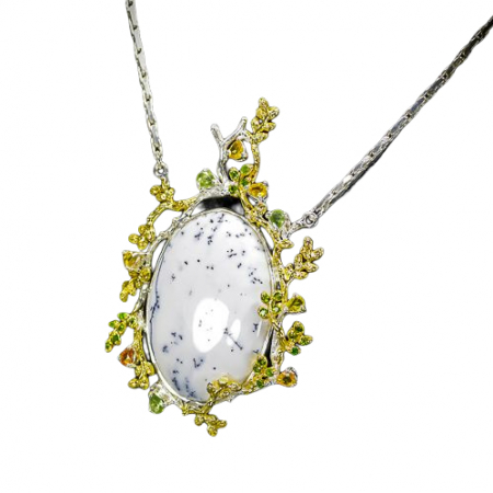 Pandant argint opal dendritic [1]