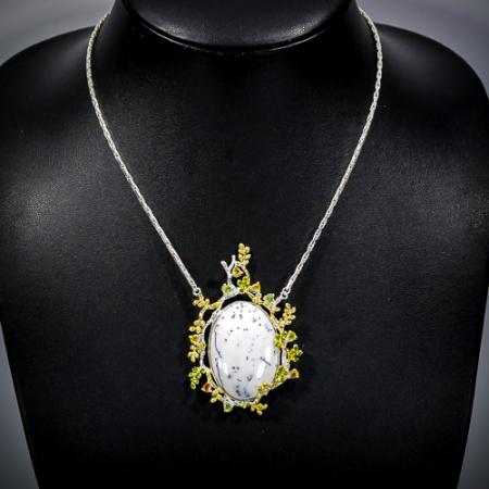 Pandant argint opal dendritic [0]