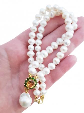 Colier perle naturale si citrin [2]