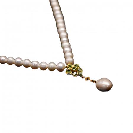 Colier argint perle peridot [1]