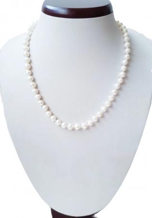 Colier cu perle naturale albe0