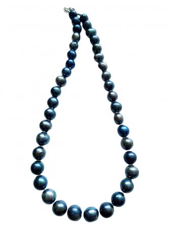 Colier cu perle naturale negre1
