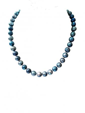 Colier cu perle naturale negre0