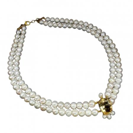 Colier perle citrin [1]