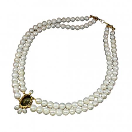 Colier perle citrin [2]